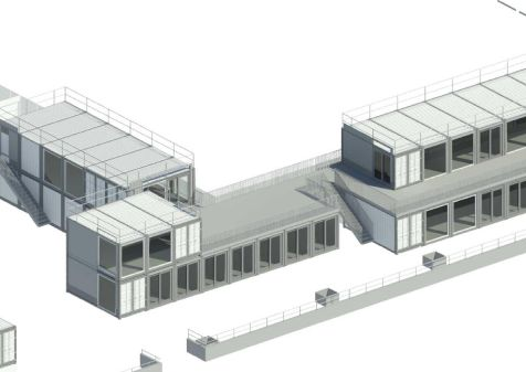 Drawings by architects Alec French show the proposed new units on top of CARGO 2